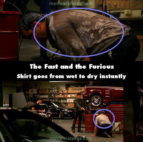 Slapjscarons krekls... Autors: Senču Lācis Ātrs un Bez Žēlastības - Kļūdas (Fast & Furious)