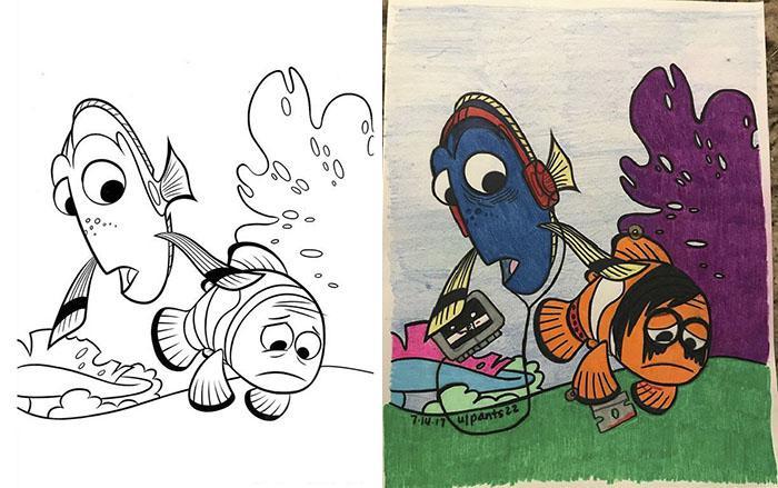 Autors: matilde Kas notiek, ja pieaugušajam iedot bērnu krāsojamo grāmatu?!