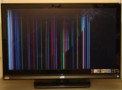 how to fix a broken flat screen lcd led tv with lines or - 400×296