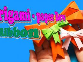 Cute Kawaii Paper Bow/ Ribbon/ Origami Bow