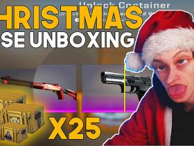 Opening 25 Cases in CS:GO for Christmas + PUBG Highlights